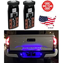 LED Monster 2-Pack Blue 3-SMD LED Bulbs (3030 Chipset) for Car Interior Dome Map Door Courtesy License Plate Lights Extremely Bright Compact Wedge T10 168 194 2828