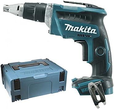 Makita Dfs452zj Akku Schnellbauschrauber Brushless 18v Koffer Makpac 18 V Blau Silber Baumarkt