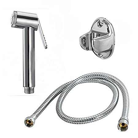 Tomex ABS Health Faucet with Stainless Steel Tube and PVC Holder (Simply Big)