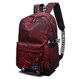 School Backpack SKL Unisex School Bag Canvas Rucksack Laptop Book Bag Satchel Hiking...