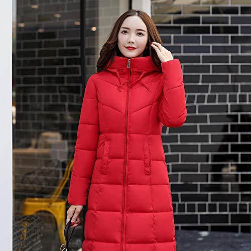 Lasvogos Red Giacca Casual Size Winter Slim 6xl amp; Ispessimento Cotone In Women Size Invernale Coat Plug grqw7Hxg