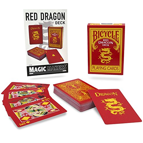 - Magic Makers Bicycle Red Dragon Deck - Reverse Back Specialty Bicycle Card Deck