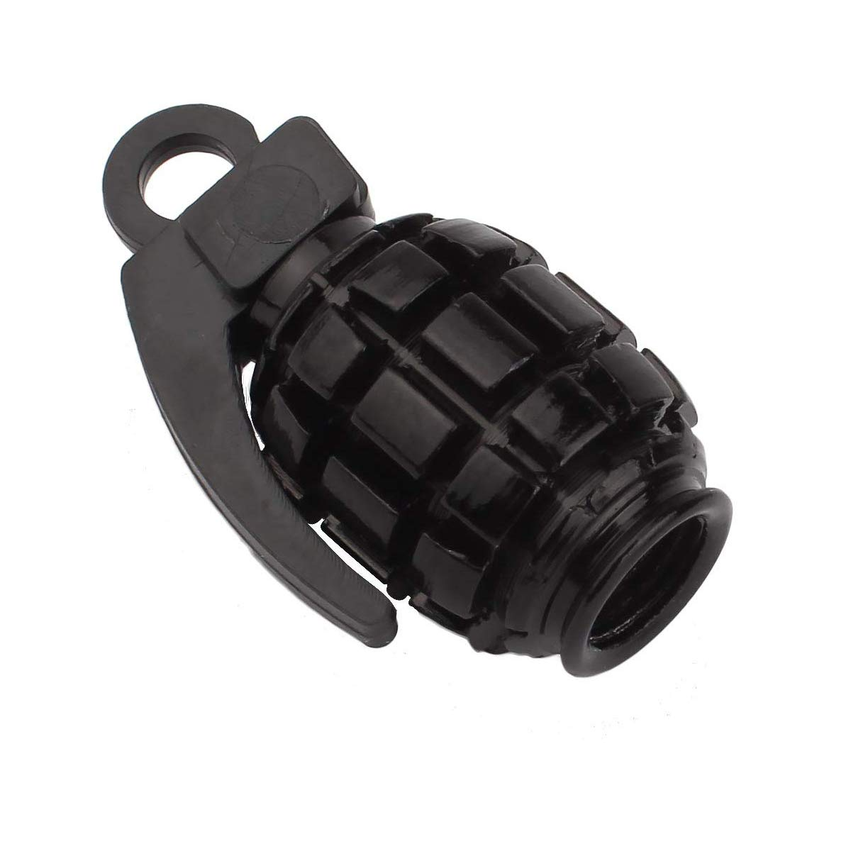 BOROLA Car Tire Valve Stem Caps With Grenade Style Black, Pack of 5