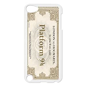 CTSLR Hogwarts Train Ticket Harry Potter Protective Hard Case Cover Skin for iPod Touch 5 5G 5th Generation- 1 Pack - Black/White -1 by icecream design