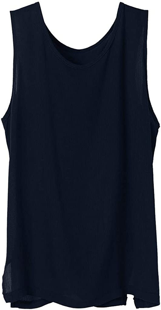 Mens T Shirt Mens Fitted Jersey Tank Top Solid Lightweight Quick Dry Performance Sleeveless Muscle Tee