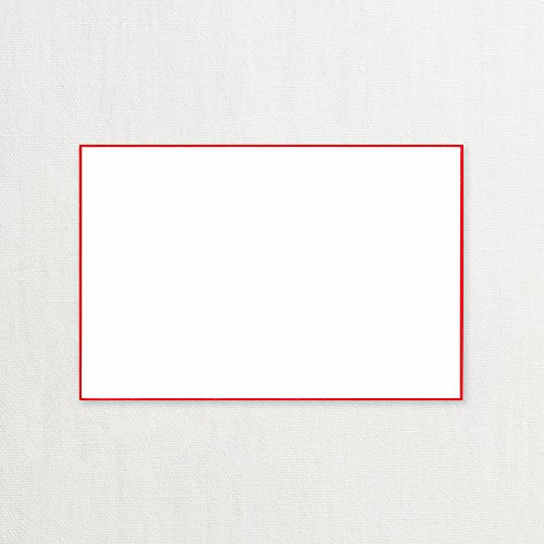 Crane Red Bordered Correspondence Card, Pearl White (CC3718)