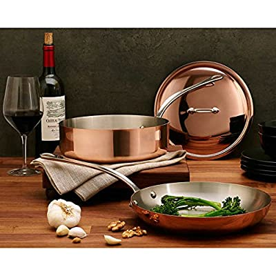 Mauviel M'Heritage Copper with Stainless Steel Interior 3-piece Cookware Set