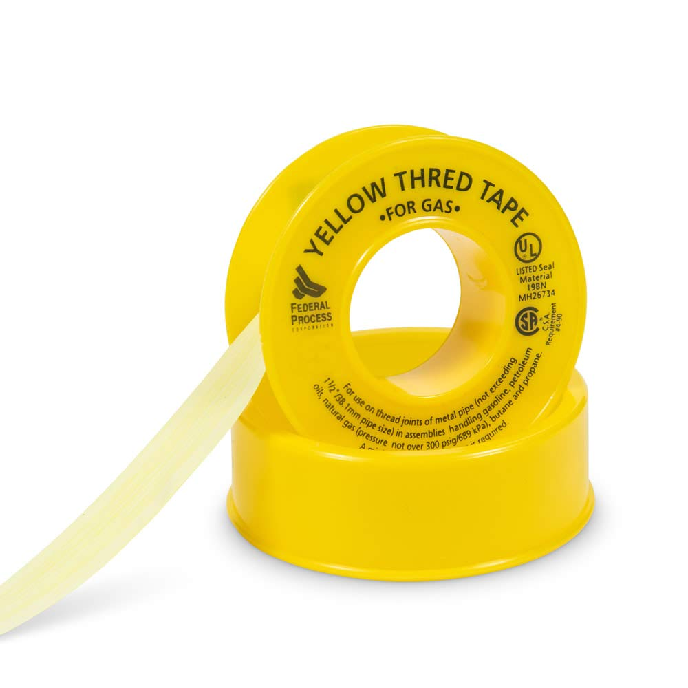 "2 Federal Process Gasoila YT70 1//2/"" Wide Gas Oil Pipe Line Thread Sealing Tape"