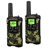 Walkie Talkies for Kids, 22 Channel 2 Way Radio 3 Mile Long Range Kids Toys, Up to 3KM UHF Handheld Walkie Talkies, Toys and Gifts for 4, 5,6, 7, 8 Year Old Boys and Girls (ArmyGreen)