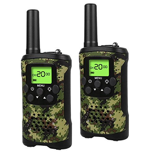 Walkie Talkies for Kids, 22 Channel 2 Way Radio 3 Mile Long Range Kids Toys, Up to 3KM UHF Handheld Walkie Talkies, Toys and Gifts for 4, 5,6, 7, 8 Year Old Boys and Girls (ArmyGreen) by Car Guardiance