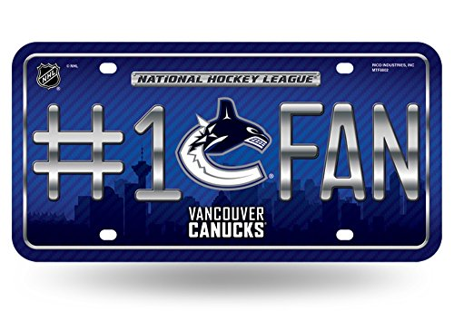 NHL Vancouver Canucks #1 Fan Metal License Plate Tag