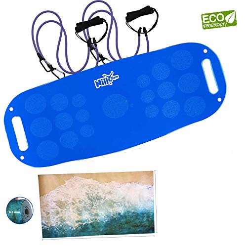 NILLYGYM Balance Fit Board with Exercise Mat Included (Weight Board)