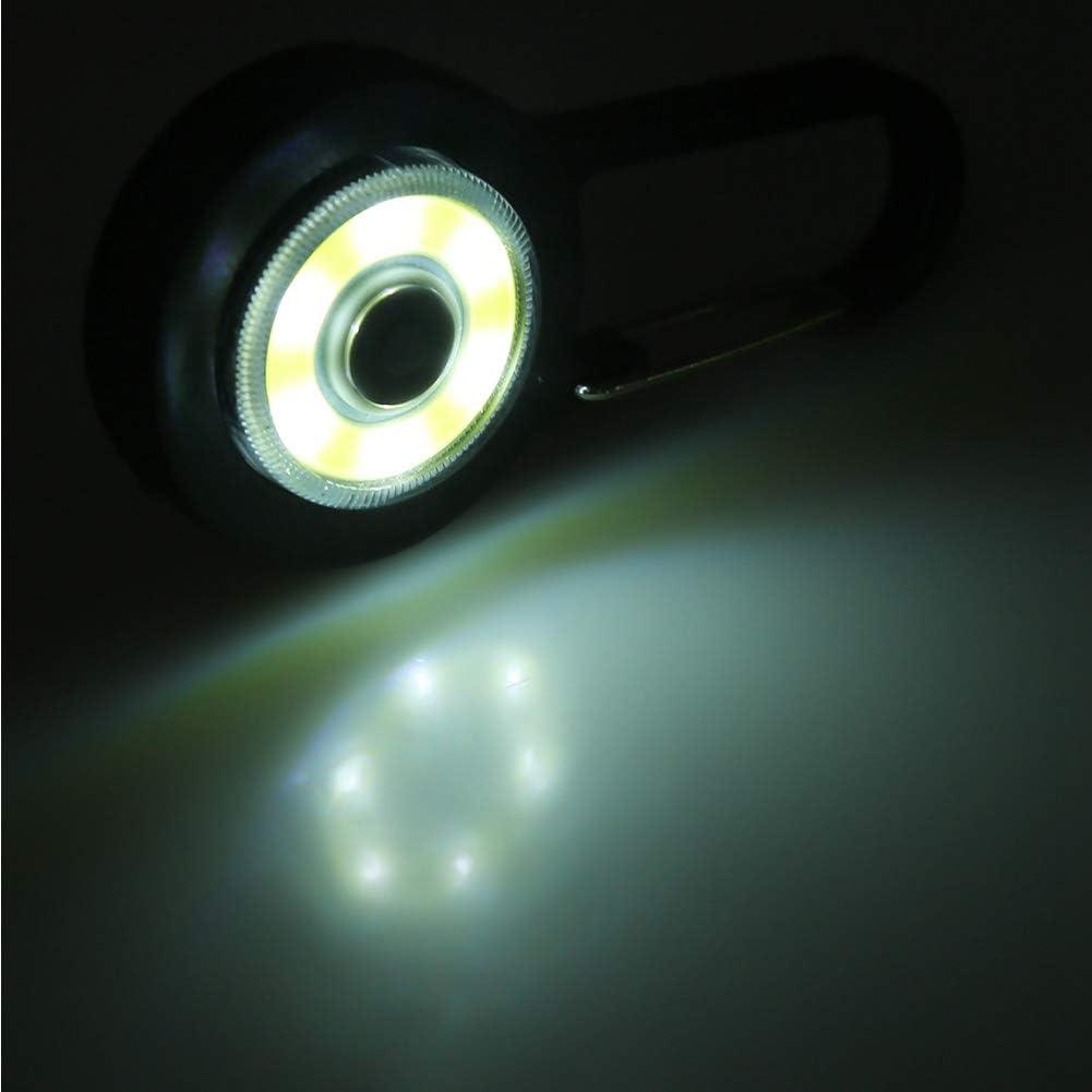 Lightbag Leggero per Zaini Alpinismo Leggero con moschettone per Ciclismo Notturno Moschettone con Luce Red