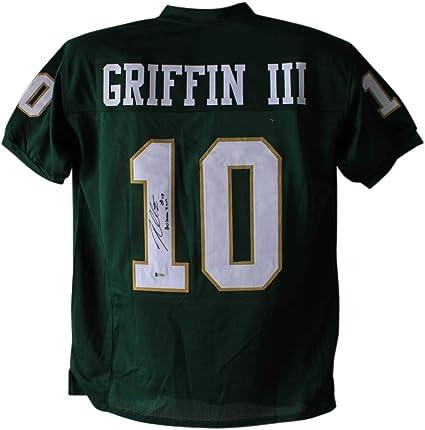 Robert Griffin III Autographed Baylor Green XL Jersey Heisman BAS ...