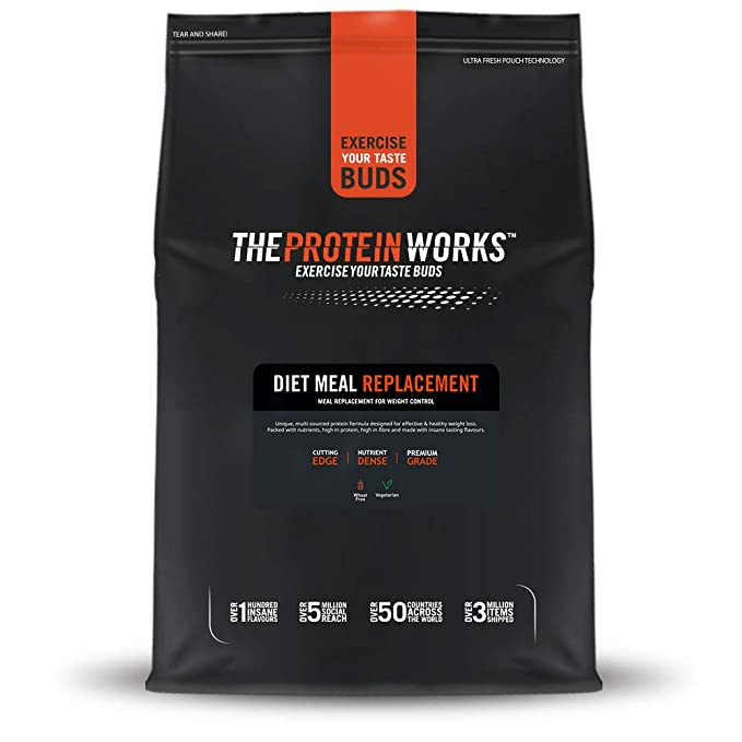 The Protein Works High Protein Diet Meal Replacement Shake Banana Smooth 500 G