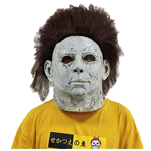 (Michael Myers Mask Full Head Latex Mask Scary Halloween Cosplay Costume Accessory Killing Mask (Type)
