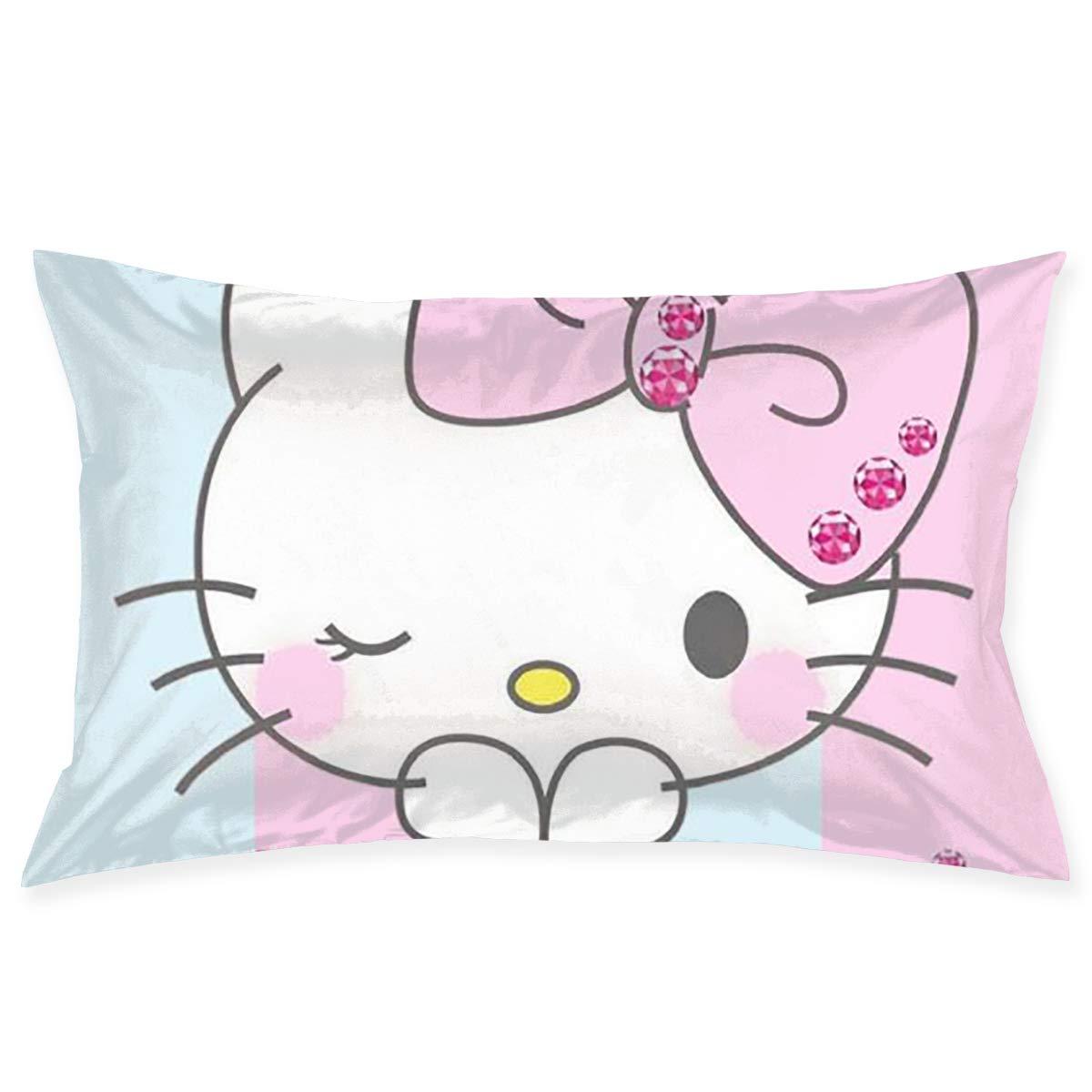 CHLING Fundas de Almohada de Hello Kitty, Color Rosa, Funda ...