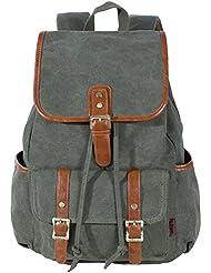 KaLeido Unisex Large Capacity Canvas Backpack Schoolbag Travel Bag