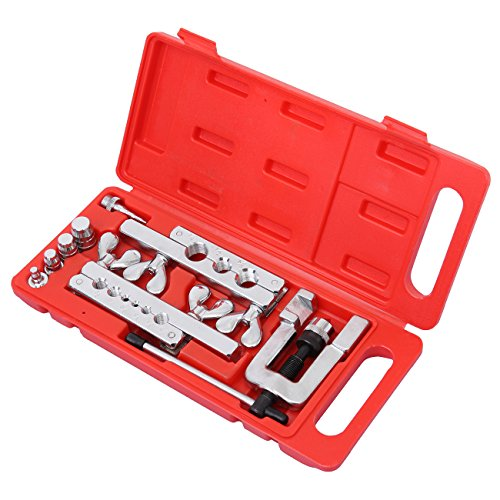 - Ambienceo 45 Degree Traditional Extrusion Type Flaring & Swaging Tool Kit OD Soft Copper Tube Cutter W/Carrying Case