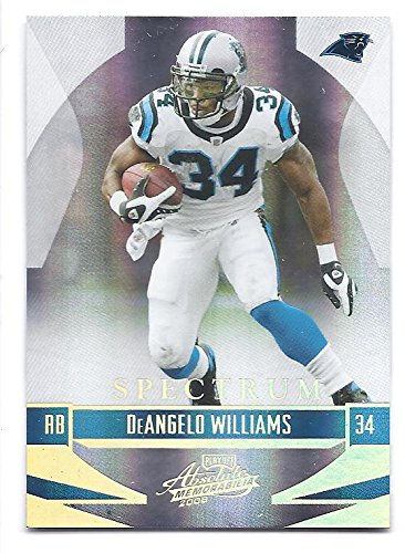 3d2fef224 DEANGELO WILLIAMS 2008 Playoff Absolute Memorabilia #21 SPECTRUM GOLD  Parallel Card #16 of only
