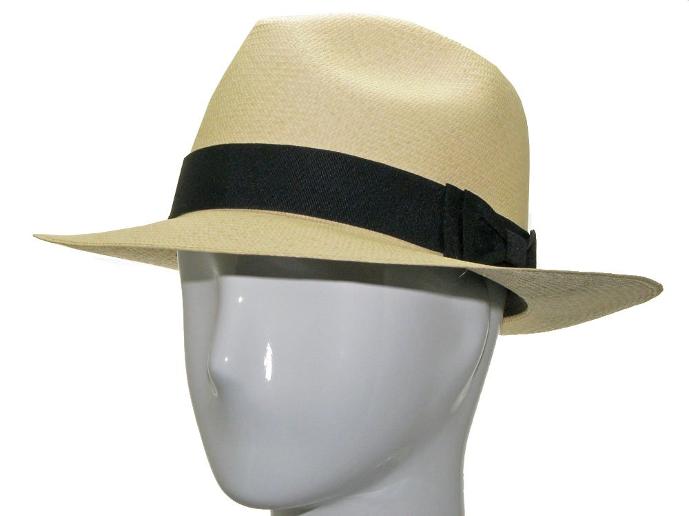 CARTER FEDORA Panama Hat Natural Straw Stylish 7 1/2 by Ultrafino