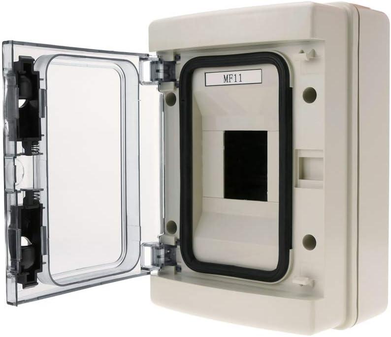 BeMatik - Caja de distribución eléctrica de 4 módulos de Superficie de plástico ABS SPN IP65 HA: Amazon.es: Electrónica