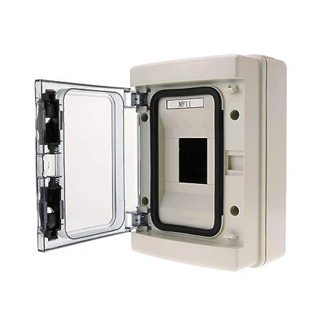 BeMatik - Caja de distribución eléctrica de 4 módulos de Superficie de plástico ABS SPN IP65