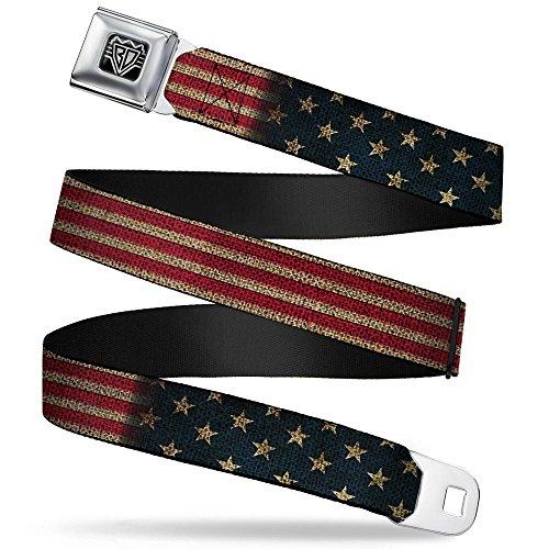 Buckle-Down Seatbelt Belt - Vintage US Flag Stretch - 1.0