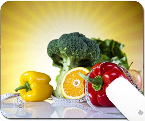 Luxlady Gaming Mousepad 9.25in X 7.25in IMAGE: 23225390 Vegetable and fruit fitness sunset