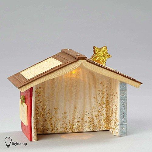 "Enesco Department 56 Heart of Christmas ""Lighted Nativity Crèche"" Stone Resin Figurine, 2.99"" (Heart Stone Precious)"