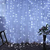 Fairy LED Curtain String Twinkle Lights for Bedroom Home Decoration 304 LEDs 9.8ft X9.8ft Window Patio Lights for Wedding Christmas Decorations (Pure White)