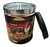 Our Own Candle Company Smoke Eliminator Scented Candle in 13 Ounce Tin with a Vintage Dogs Playing Poker Label