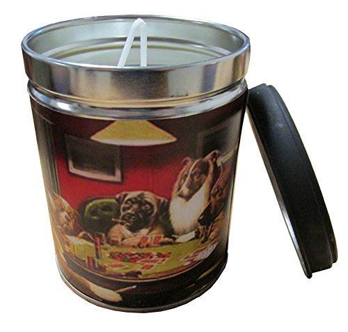 Our Own Candle Company Smoke Eliminator Scented Candle in 13 Ounce Tin with a Vintage Dogs Playing Poker Label by Our Own Candle Company