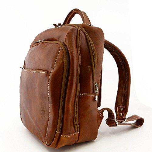 Leder Rucksack Farbe Cognac - Italienische Lederwaren - Rucksack