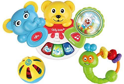 Baby Toys Kawo Musical Learningおもちゃ5 pcs動物Rattle with音楽とライト   B01N9QN9RB