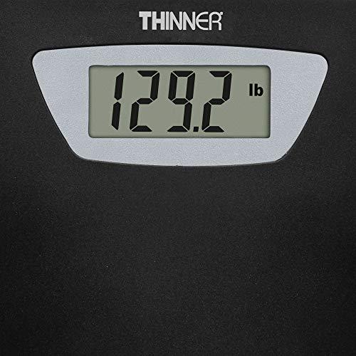 Conair Thinner TH280 Digital Precision LED Portable Bathroom Scale, Black/Silver by Conair (Image #2)