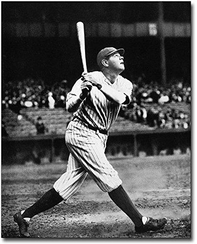 - Babe Ruth Swinging Bat Vintage Baseball 8x10 Silver Halide Photo Print