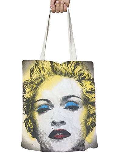 Official One Bag Size Zip Celebration Madonna Logo Face Tote Top Bgnwq1