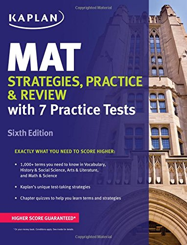 MAT Strategies, Practice & Review (Kaplan Test Prep)