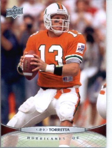 1992 Heisman Trophy - 2012 Upper Deck Football Card #24 Gino Torretta - Miami Hurricanes (Heisman Trophy - 1992)