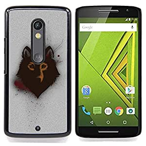 Spray Graphiti Wolf Art Caja protectora de pl??stico duro Dise?¡Àado King Case For Motorola Verizon DROID MAXX 2 / Moto X Play