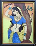 Lady Standing with Tree, a Painting for Home Décor & Gift