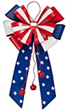 Miles Kimball Patriotic Metal Bow Door Hanger by Maple Lane Creations For Sale