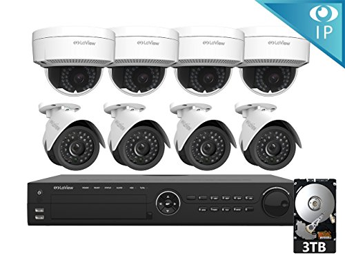 LaView 8 1080P IP Camera Security System 16 CH 1080P IP PoE NVR