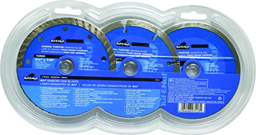 Task Tools 07413 Tuf-E-NUF Diamond Blade Set, 4.5-Inch, 3-Piece