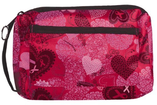 Prestige Medical Compact Carry Case Ribbons and Hearts Pink Model 745