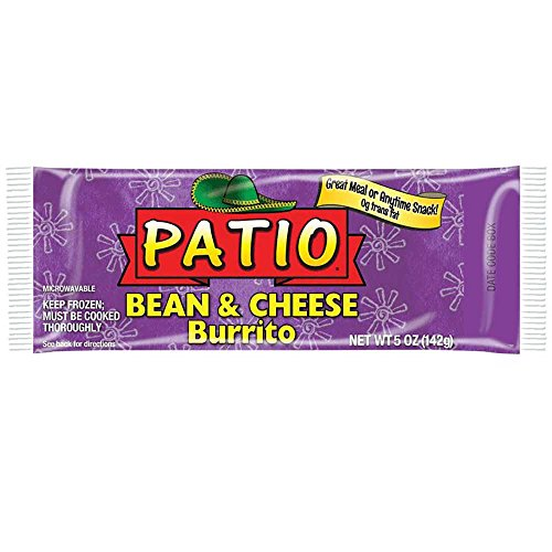 J And J Snack Patio Beans And Cheese Burrito  5 Ounce   24 Per Case