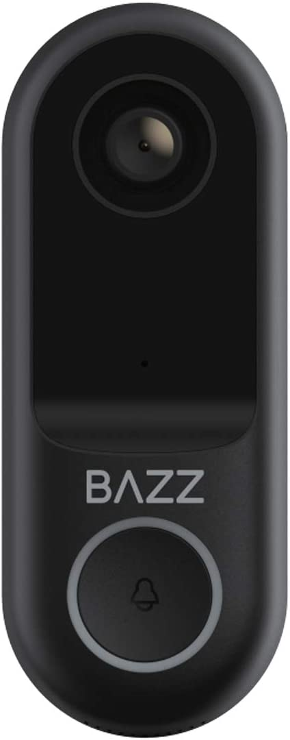 BAZZ WFDBELL1 Smart Home Wi-Fi Doorbell, HD Camera, Two-Way Audio, No Hub Required