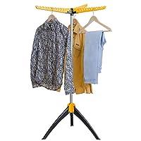 Art Moon Elm Portable Clothes Drying Rack, Foldable Tripod Garment Hanger, Steam Hanger, Indoor/Outdoor Durable Construction Up to 63 hangers