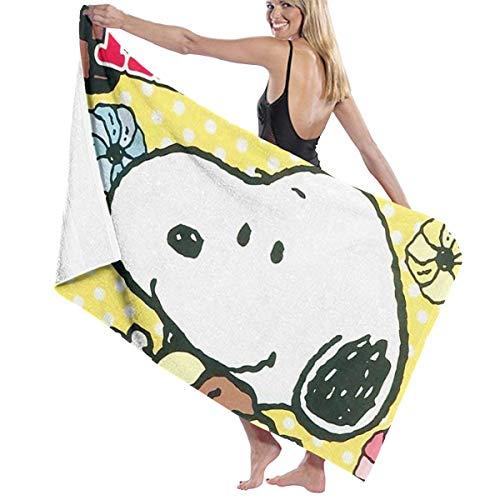 LCXYUJIN Beach Towels Bath Towels Snoopy and His Life Microfiber Fast Drying Bath Towels Swimming Camping Towel Adults Spa Bath Towel 31